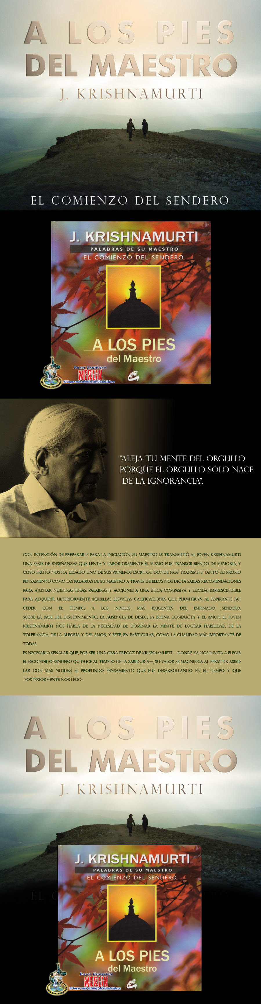 J Krishnamurti A Los Pies Del Maestro Diseno 01